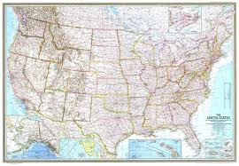 Map Of United States With Interstates by National Geographic United States Map 1968 Maps Com