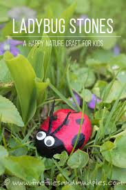ladybug stones a happy nature craft for kids fireflies and mud pies