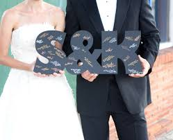 amazon com wooden letters wedding guestbook monogram initials