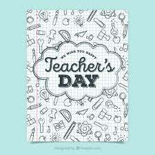 doodle 4 blank sheet teachers day vectors photos and psd files free