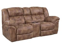 home theater loveseat recliners homestretch padre almond reclining console loveseat with