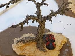miniature terrain tutorial how to make a dead tree part 1