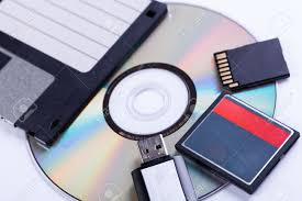selection of different computer storage devices for data and