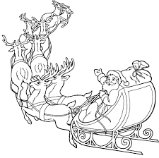 coloring pages santa claus reindeer coloring