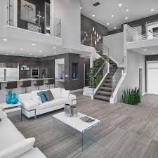 Staircase Floor Plan Living Rooms Living Room Contemporary With Open Floor Plan