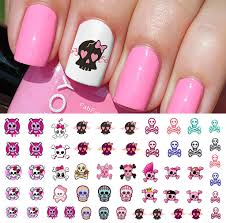 cute skulls set 2 nail art waterslide decals monster high style