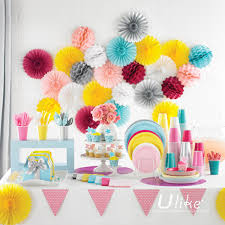 cheap party supplies 10 20ps lot party flowers party favor birthday decor fan wedding