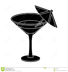 glass with a cocktail party and parties single icon in black style