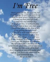 i m free memorial poem birthday mothers day funeral christmas gift