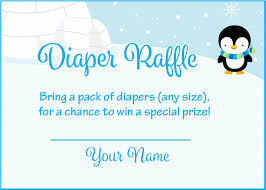 diaper raffle tickets for baby shower winter baby shower theme