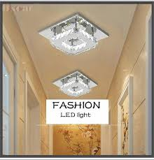 Porch Ceiling Lights 12w Cool White Led Ceiling Light Crystal Lamp Living Room Hallway