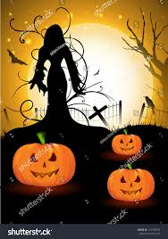 free halloween background eps halloween witch moon light night background stock vector 115378474