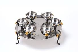 buy seder plate buy seder plate for passover topaz collection hammered stainless