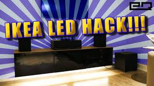 motion activated led lighting tutorial ikea hack youtube