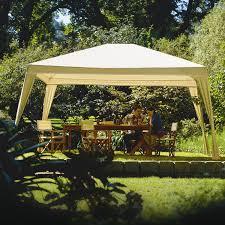 patio gazebo 10 x 12 12ft x 10ft folding gazebo with carry bag in camel