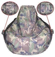 marin vinyl bean bag round bean bags arm chair camo style