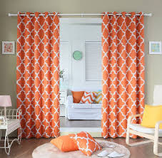 White Patterned Curtains Orange And White Patterned Curtains Best Curtains Design 2016
