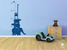 Nursery Wall Decals Animals by Nursery Growth Chart Wall Decal Safari Animal Stack Nursery