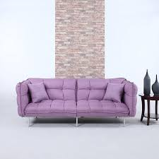 Purple Sleeper Sofa Divano Roma Furniture Collection Modern Plush Tufted