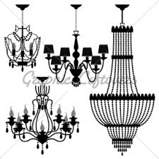 Black Chandelier Clip Art Chandelier Gl Stock Images
