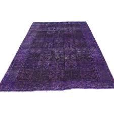 Worn Oriental Rugs 5 U0027x8 U0027 Hand Knotted Overdyed Bakhtiari Pure Wool Worn Oriental Rug
