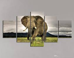Painting Home by 2017 5 Panel Elephant Painting Home Living Room Decoration Canvas