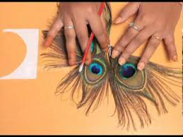how to a peacock feather hair pin