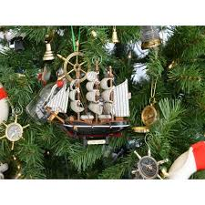 wooden cutty sark model ship tree ornament