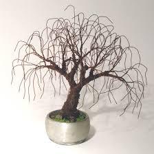sal villano wire tree sculpture rusted bonsai mini tree sculpture