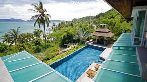 glass house swimming pool 6 bed private villa ao yon