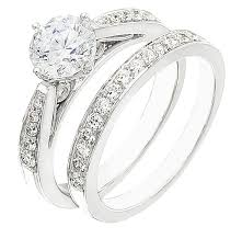 White Gold Wedding Ring Sets by Ladies Engagement Ring Set On Sale Set On White Gold With Diamonds