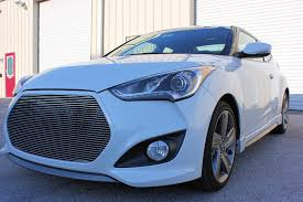 hyundai veloster turbo matte black 2013 hyundai veloster turbo 1pc replacement billet grille