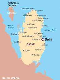 doha qatar map map of doha qatar map travel holidaymapq com