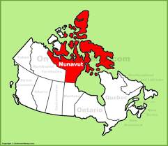 Canada On Map by Nunavut Location On The Canada Map