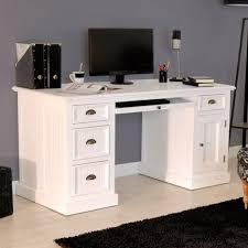 bureau bois massif blanc bureau en bois massif blanc homeandgarden dans bureau bois massif