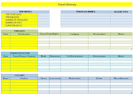 Free Travel Itinerary Template Excel 30 Itinerary Templates Travel Vacation Trip Flight