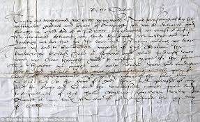 letter informing henry viii of his longed for son u0027s birth is found