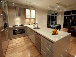 modern island kitchen design using floorboards photo 340642