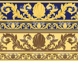 Wallpaper Border Designs Seamless Vintage Wallpaper Border Stock Vector Art 165642103 Istock