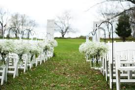 babys breath mason jars ceremony decor ideas pinterest