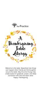 a thanksgiving table liturgy the practice