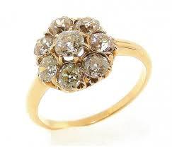 vintage rings aliexpress images Antique diamond cluster ring jpg