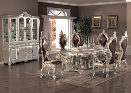 Italian Style Dining Room Furniture by Silver Dining Room Sets Photo Of Well Silver Dining Room In