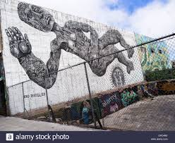 san francisco street art stock photos san francisco street art giant street art mural by zio ziegler in san francisco stock image