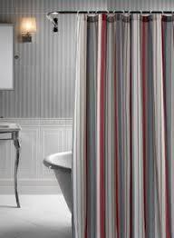 fieldcrest luxury multi stripe shower curtain brown gray 72x72