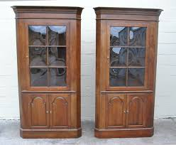 Unfinished Bookcases With Doors Furniture Mesmerizing Corner Cabinets With Doors Offering Modern
