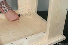 bauanleitung fã r treppen tischgestell selber bauen holztisch massiv selber bauen tisch