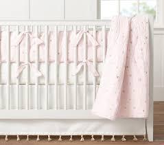 Beige Crib Bedding Set Emily Meritt Scattered Baby Bedding Pottery Barn