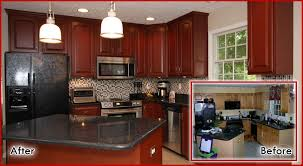 kitchen cabinet refacing ideas pictures cabinet refinishing before and after before and after kitchen