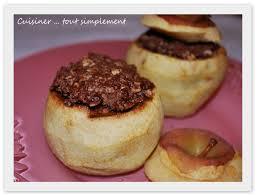 cuisiner des pommes des pommes au four et au nutella cuisiner tout simplement